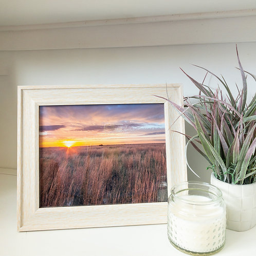 "Native prairie framed print 8x10"""