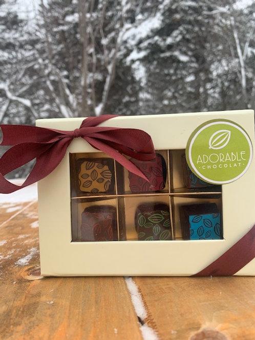 Assorted Chocolat Box (6) -- Adorable Chocolat