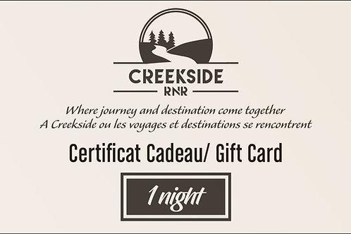 1 Weeknight – Gift Card