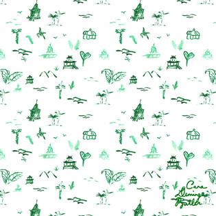 © Cara Deming Butler. Surface Pattern Design: Green Toile.
