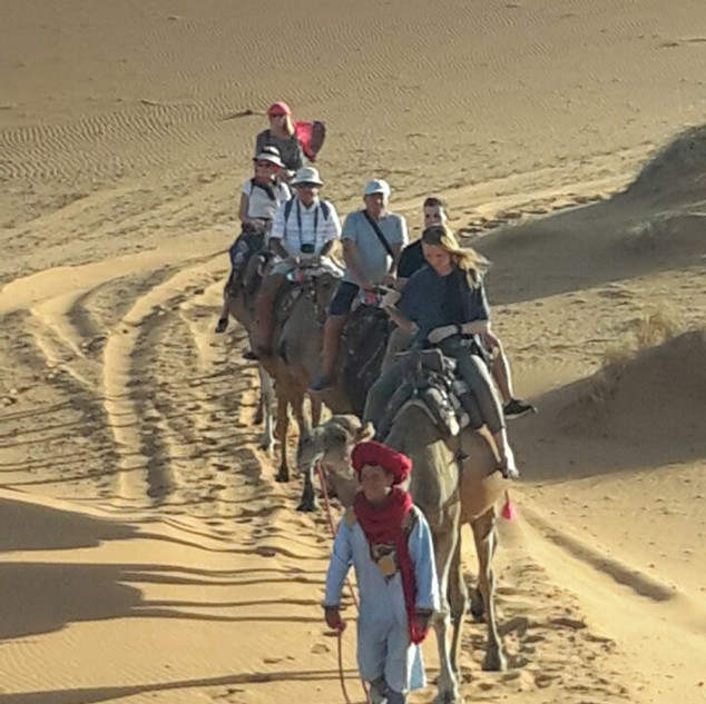 camel trekking, Morocco