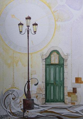 ヴェネチアー緑の扉