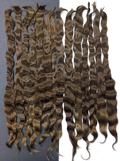 "Fine Adult Mohair ~ Medium Brown ~ 1/4 oz. ~ 11-12"""