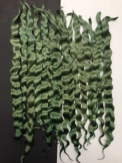 "Colorful Locks ~ Mossy Green ~ 1/4 oz. ~ 8-9"""