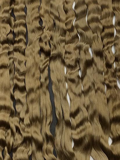 "Fine Adult Mohair ~ Light Brown ~ 1/4 oz. ~ 11-12"""