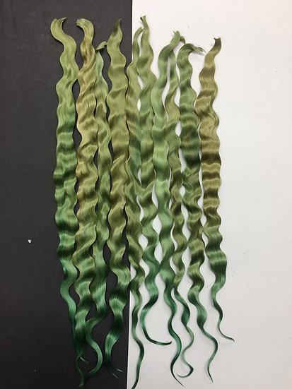 "Colorful Locks ~ Seaweed Green ~ 1/4 oz. ~ 11-12"""