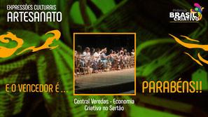 Central Veredas ganha 1º lugar na categoria Artesanato no Prêmio Brasil Criativo