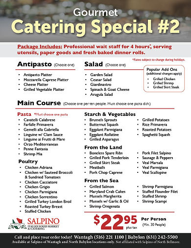 Catering Special #2