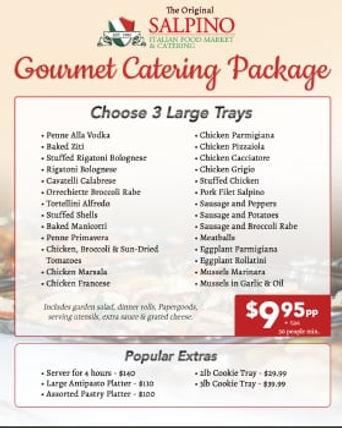 Gourmet Catering Package