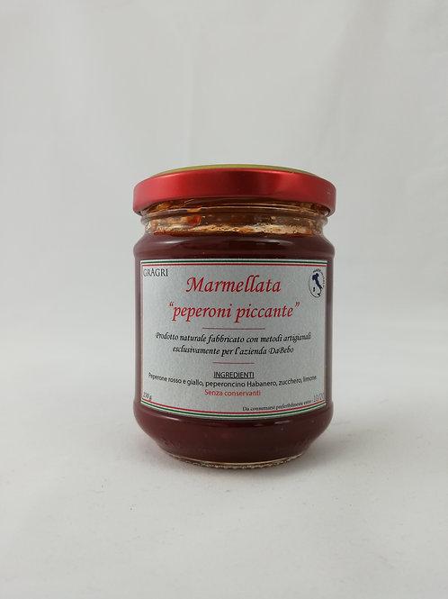 Confiture artisanale de poivrons pimentés 160g