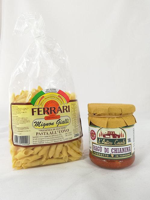 Garganelli Mignon au Ragù de Chianina - 2 pers