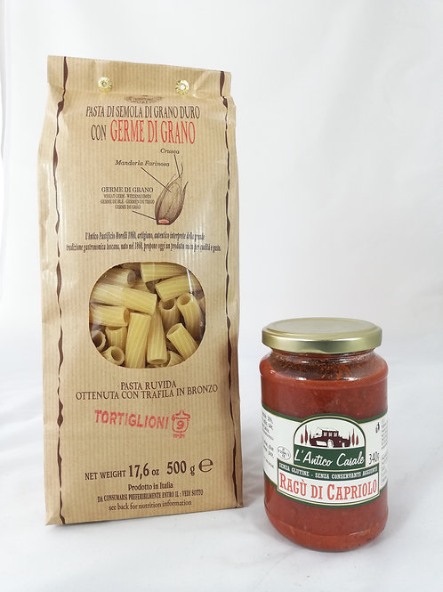 Tortiglioni & Ragù de Chevreuil - 4 pers