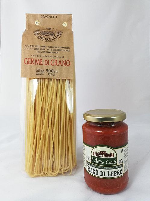 Spaghetti au Ragù de lièvre - 4 pers
