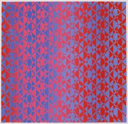 red/blue screenprint