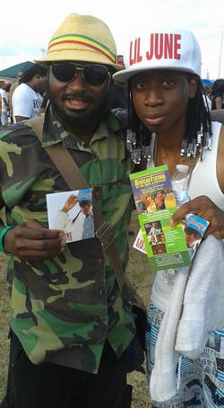 With Top Belizean Artist - Lil June