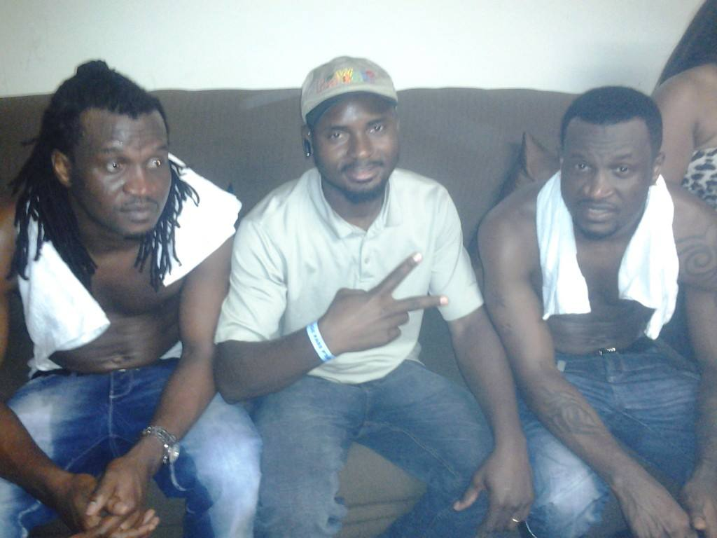 With P. Square from Nigeria
