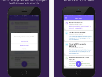 New app for fast & easy insurance reimbursement