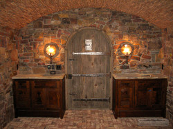 Custom Cabinets in Wine cellar