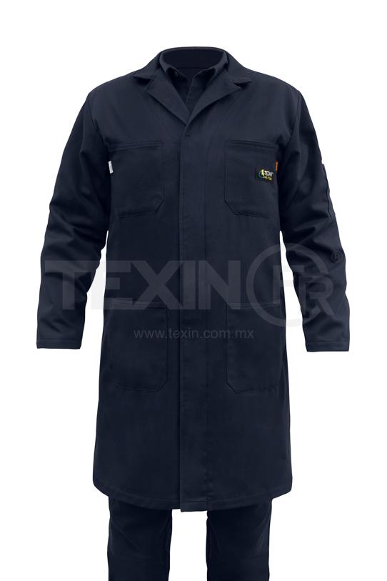 Bata de trabajo color azul marino marca Texin.