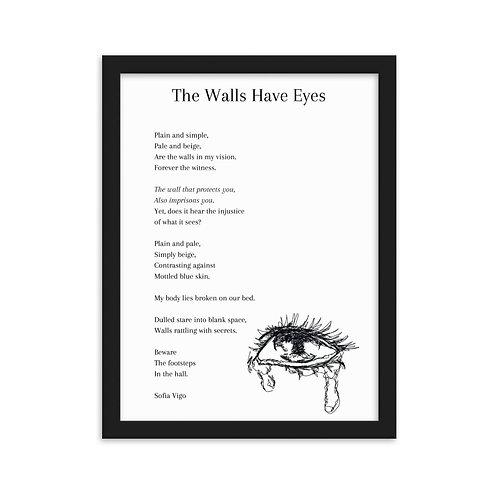Framed Walls Poem With Original Artwork