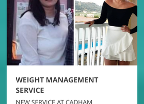 NEW WEIGHT MANAGEMENT SERVICE AT AWARD WINNING CADHAM PHARMACY HEALTH CENTRE