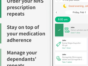 Healthera  NHS Prescription app at Cadham Pharmacy Health Centre