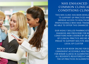Cadham Pharmacy Health Centre relaunches NHS ENHANCED COMMON CLINICAL CONDITIONS SERVICE