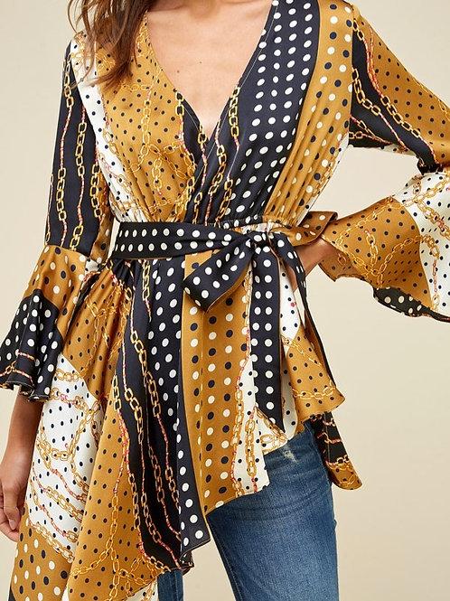 Asymmetric dressy top