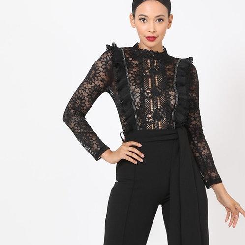 Crochet-Lace Jumpsuit