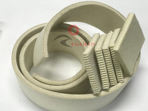 Heat Resistant Transfer White 10mm Felt Novo Belt