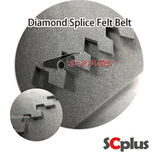 Diamond Splice Grey Felt Belt Thickness 4.0mm