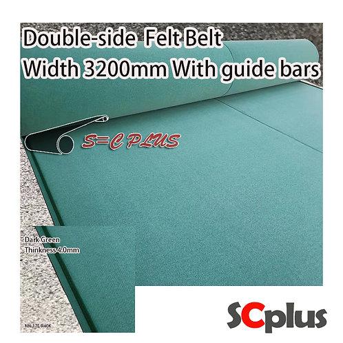 Double-side Felt Belt Thickness 4.0mm Dark Green