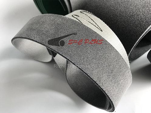 single side grey felt belt 4.0mm