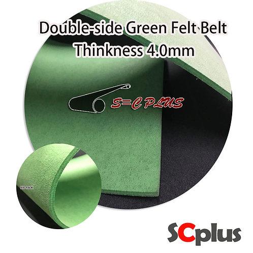 Double-side Green Felt Belt Thickness 4.0mm