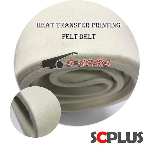 Heat transfer printing White 8mm Felt Belt 230ºC