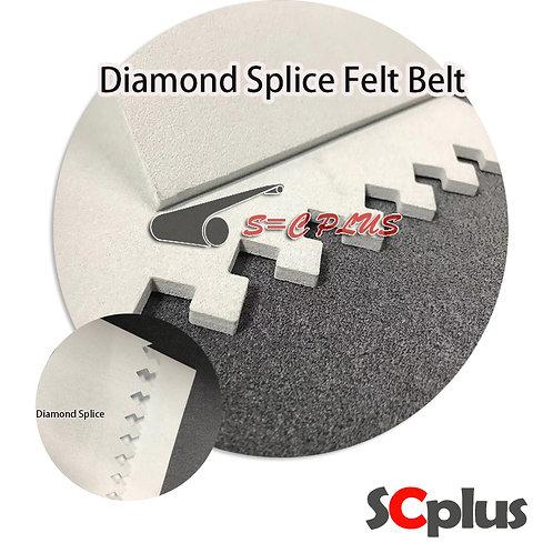 Diamond Splice Meets White Felt Belt Thickness 4.0mm