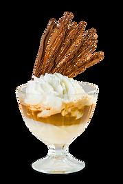 Café espresso com sorvete de creme, leite condensado, chocolate e chantilly