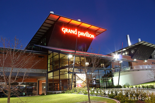 Grand Pavilion illuminated building sign