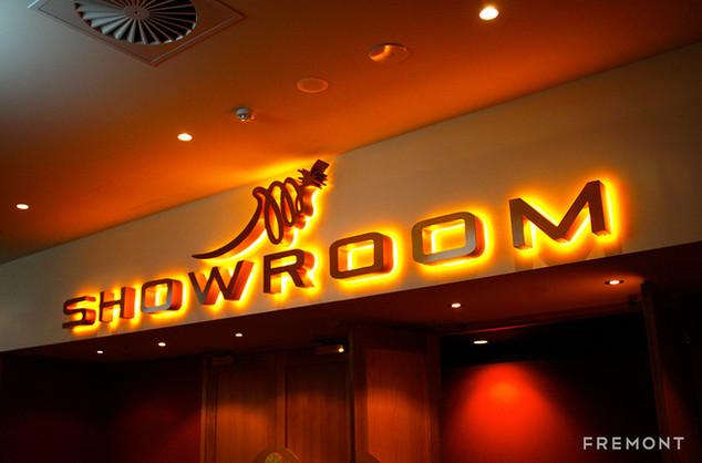 Mounties Showroom feature sign illuminat
