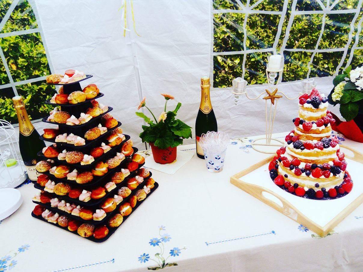 Mignardises et nude cake