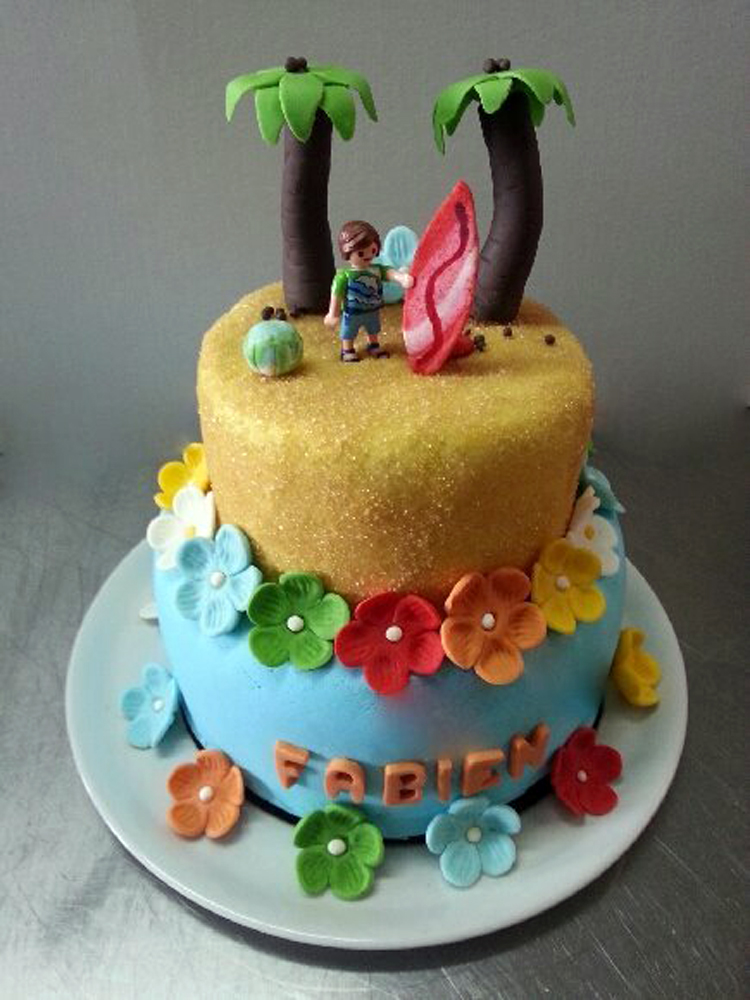 Cake design Hawaï