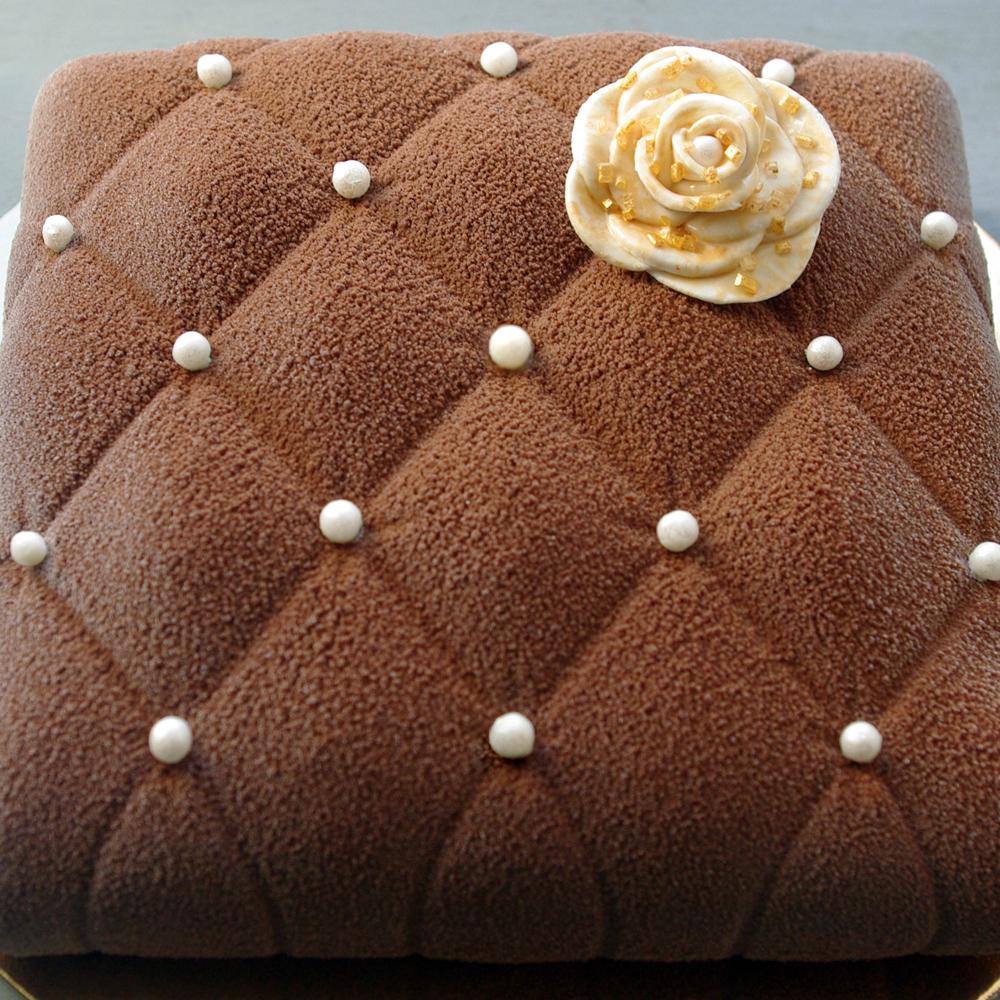 Entremets Chocolat caramel meringue