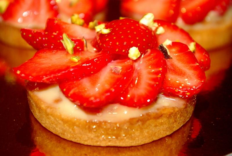 Tartelettes fraises pistache