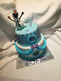 Cake design reine des neiges