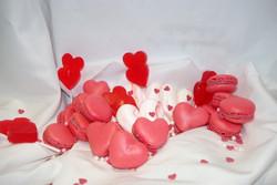 macarons fraise chocolat blanc
