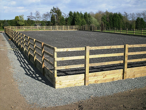 Excavations for horse arena construction