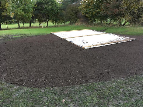 Excavations for golf course construction