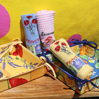 French Hand Towels & Baskets