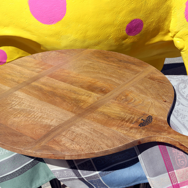 Large Round Wooden Board