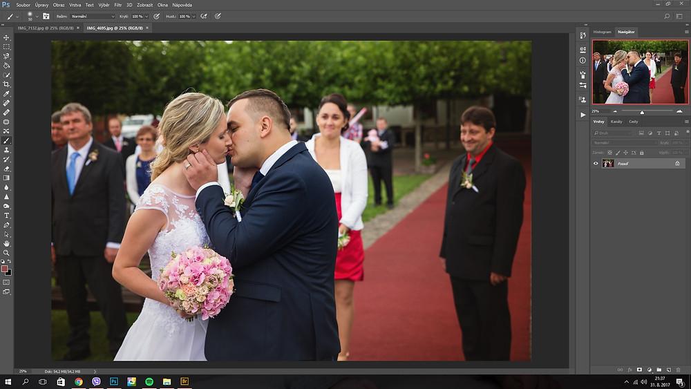 pracovní prostředí Adobe Photoshop